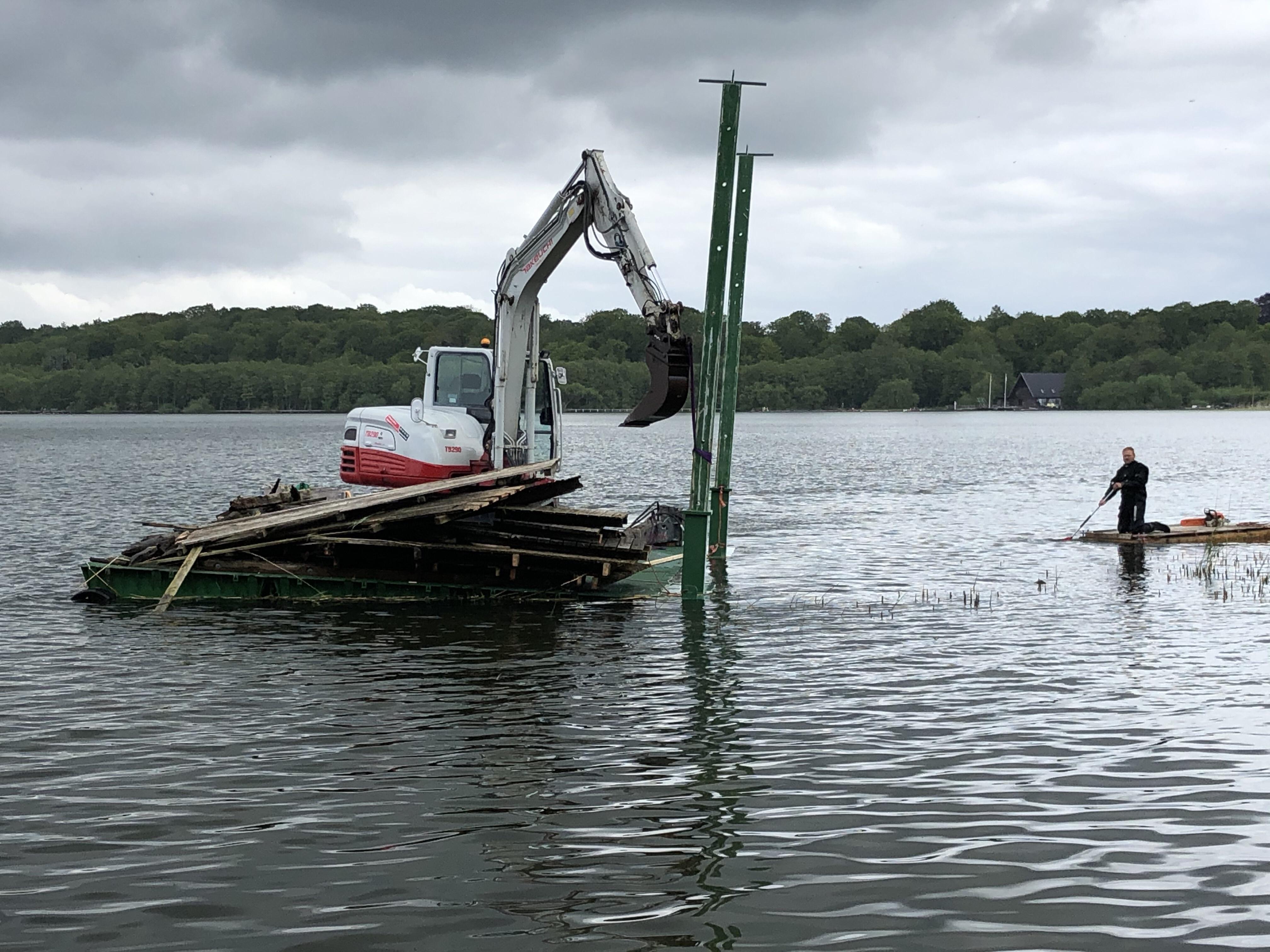 badebro i søer